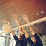 barrie volleyball spike women net sports athletic