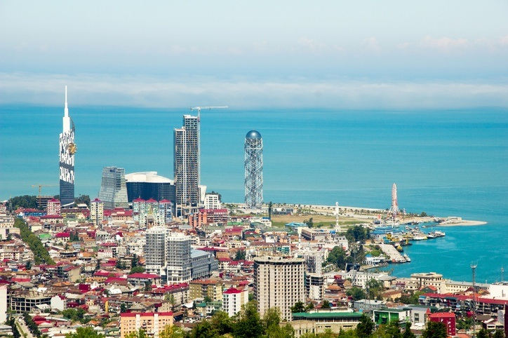 batumi georgia black sea coast resort tower