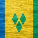 saint vincent and the grenadines blue yellow green triangles