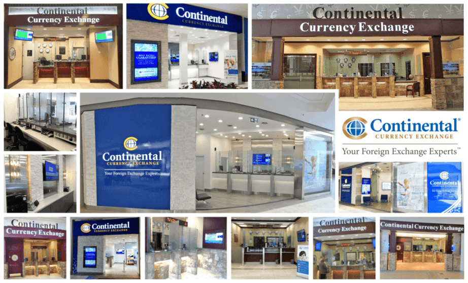 continental currency exchange branches, Currency exchange near me
