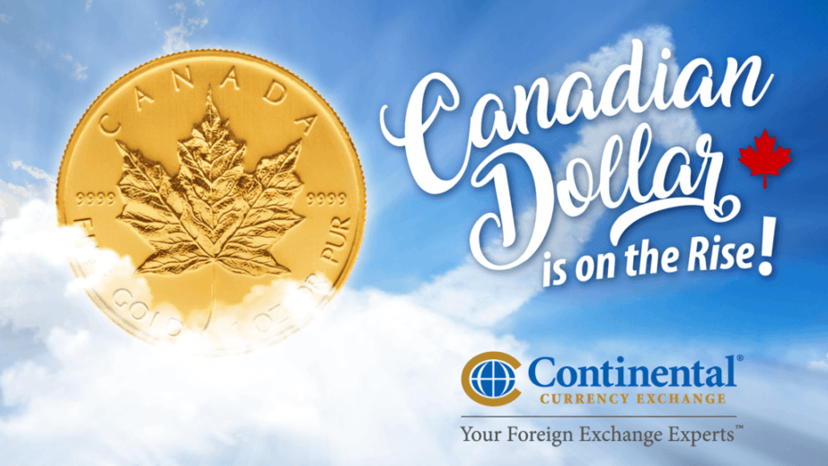 canadian dollar rising loonie clouds