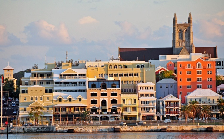 bermuda hamilton colorful buildings port waterfront