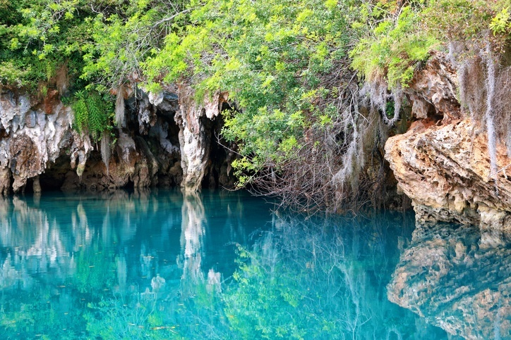 bermuda blue hole water nature interior