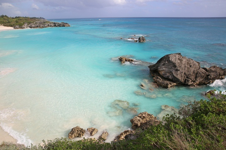 horseshoe bay beach bermuda white pink sand water blue coast