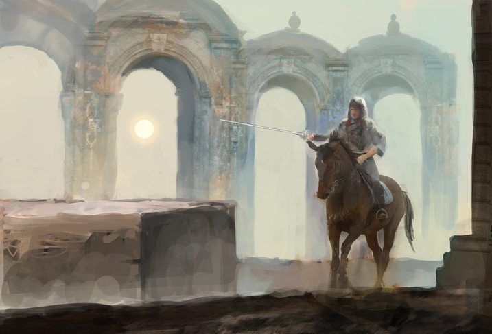 game of thrones essos horseman ruin medieval