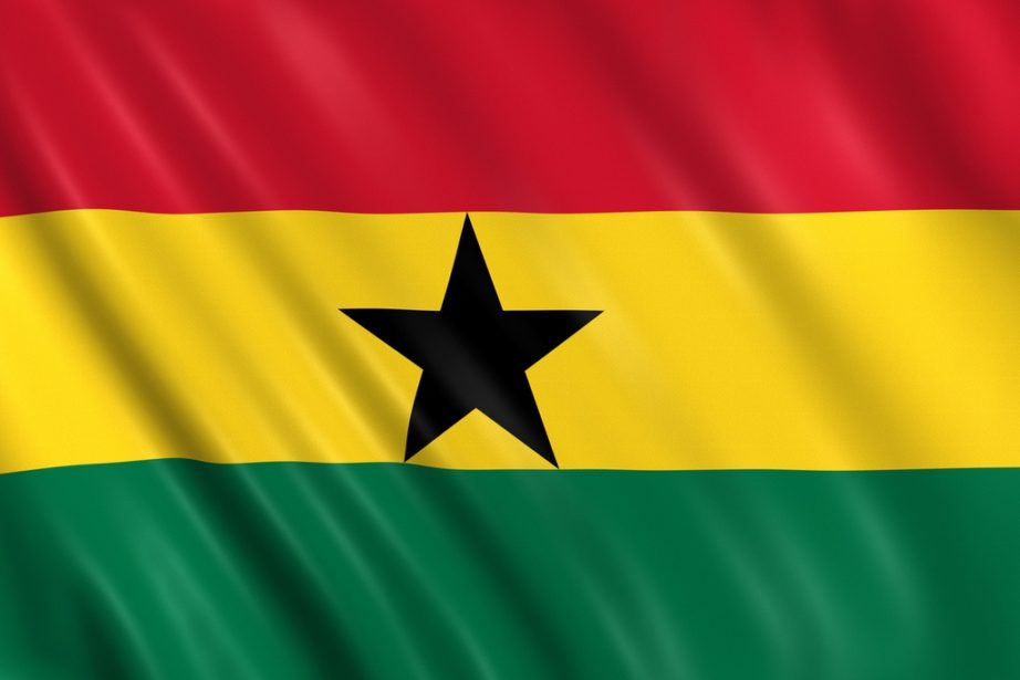 ghana flag red yellow green black star