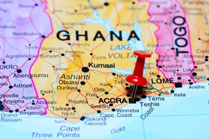ghana map pin accra country west africa