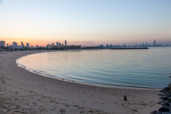 kuwait city beach salmiya water coast