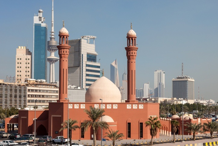 kuwait city mosque red islam religion muslim