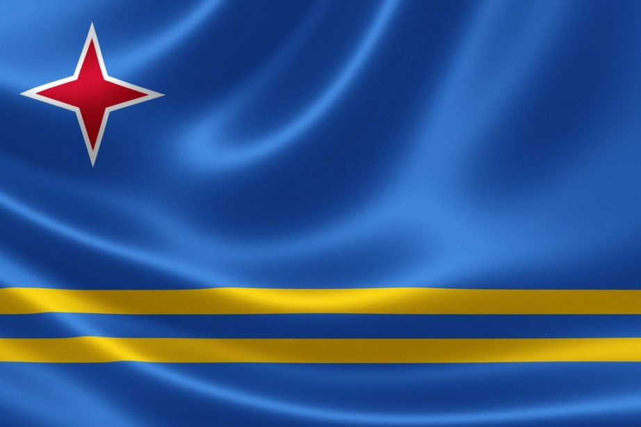 aruba flag red star blue yellow line