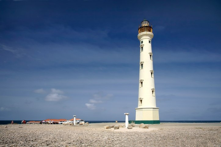 aruba lighthouse coast tower landscape