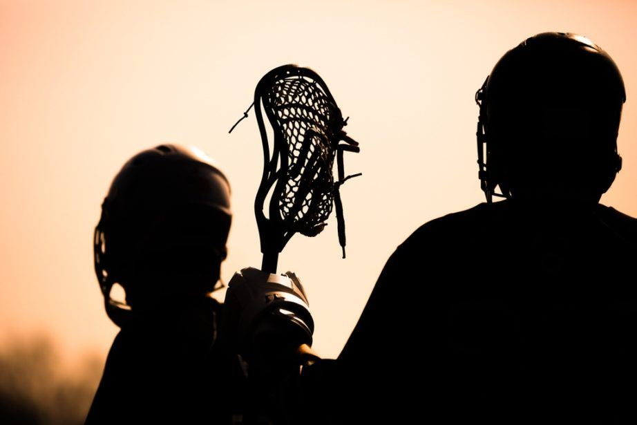 lacrosse players stick silhouette shadow sports