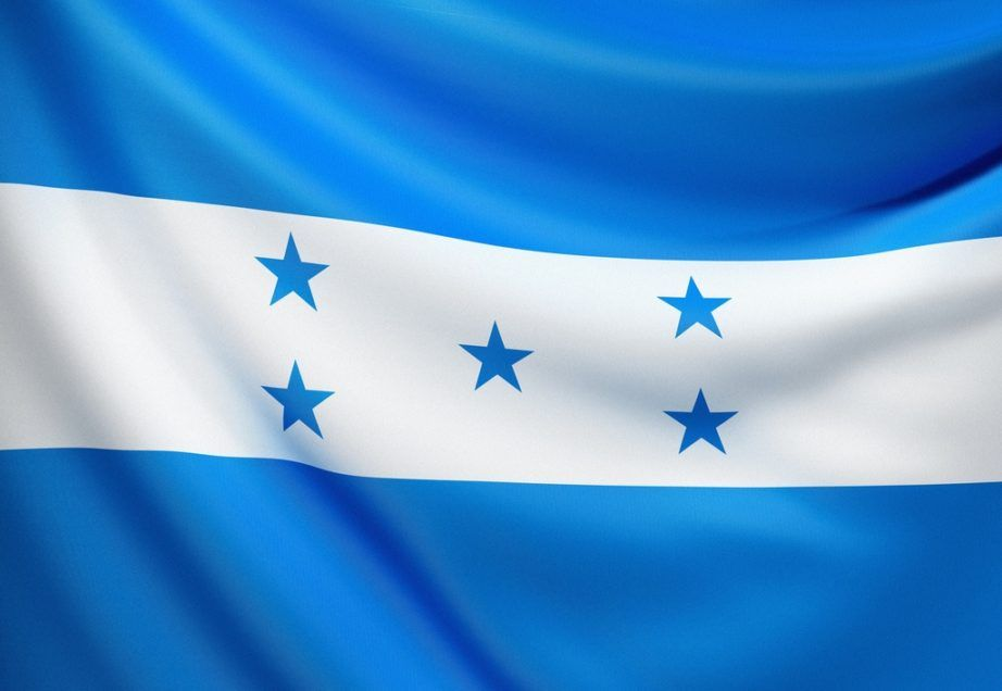 honduras flag blue white stars stripes