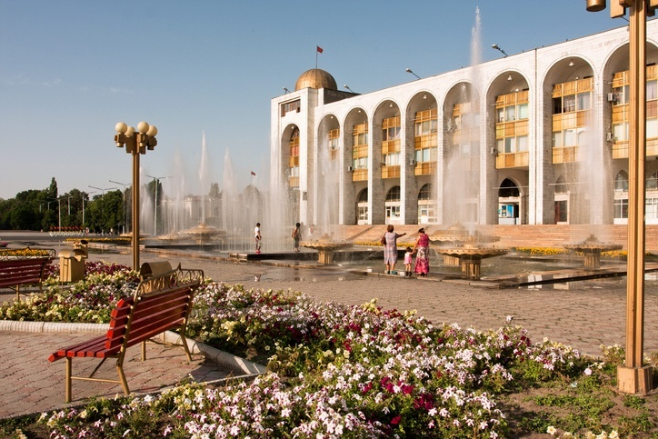kyrgyzstan bishkek building city square