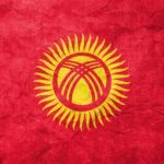 kyrgyzstan flag yurt sun yellow red