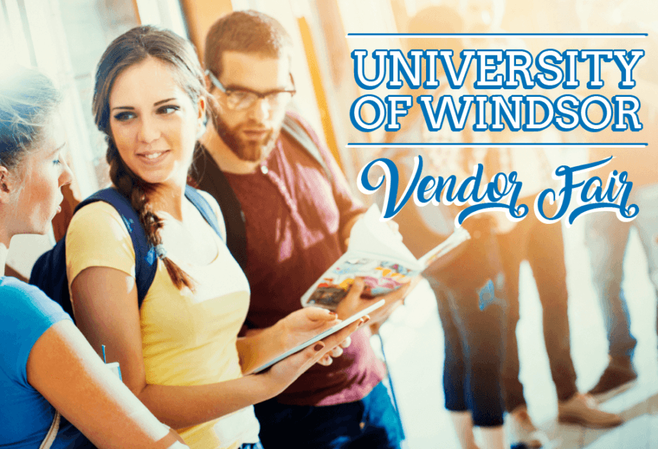 university of windsor vendor fair students happy reading