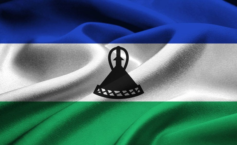 lesotho flag blue white green hat