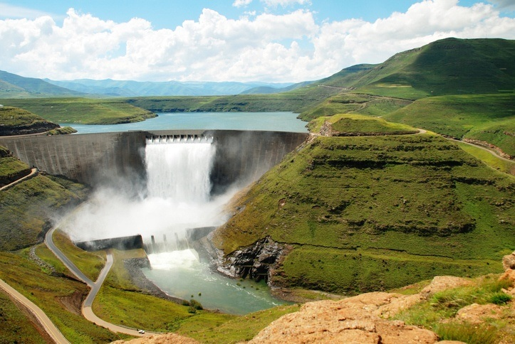 katse dam lesotho south africa hydro electric power reservoir