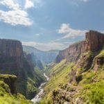 lesotho travel river valley mountains landscape