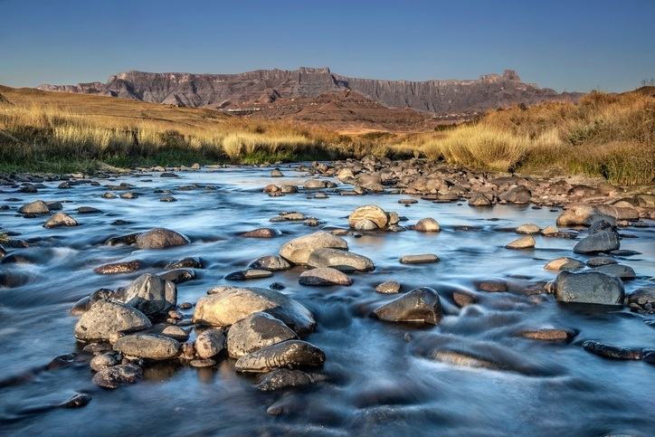 river water rocks landscape mountains park lesotho