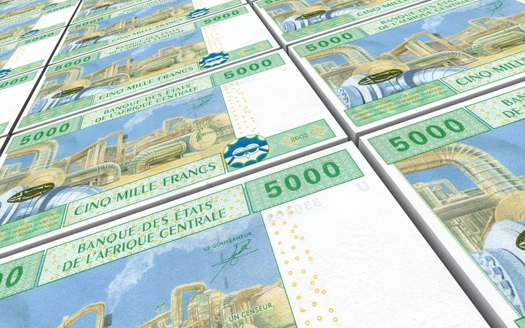 central african cfa franc money bills banknotes cash