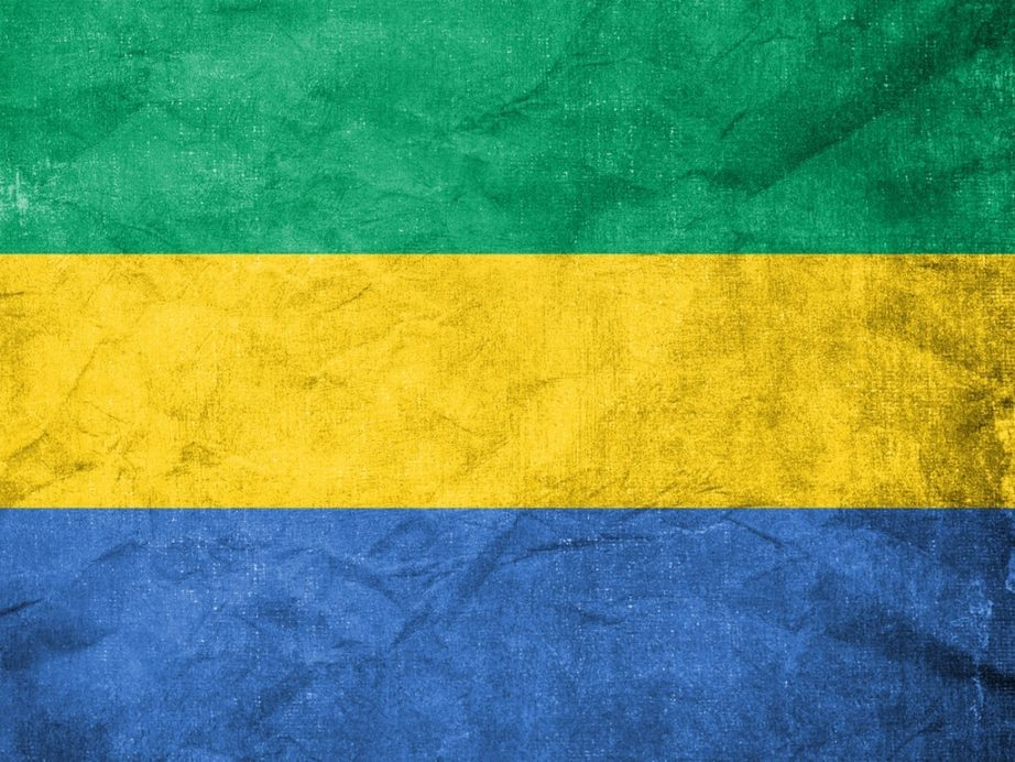 gabon flag tricolor green yellow blue