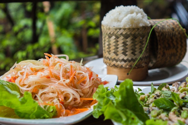 laos food cuisine noodles sticky rice traditional culture