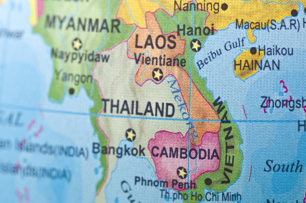 laos map southeast asia thailand vietnam myanmar indochina