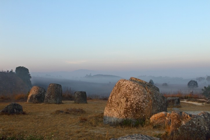 phonsavan plain of jars laos landscape rural