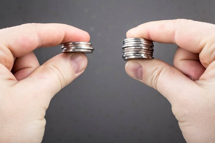 compare coins hand quarters money