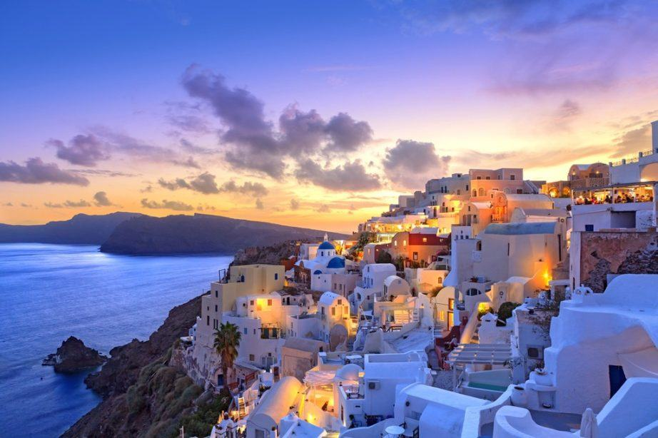 where to go in greece travel guide santorini sunset
