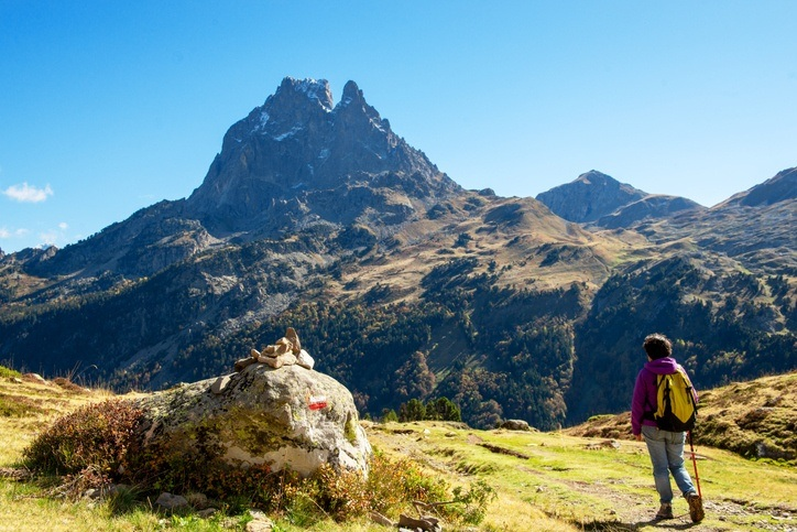 pyrenees hiking woman mountains europe