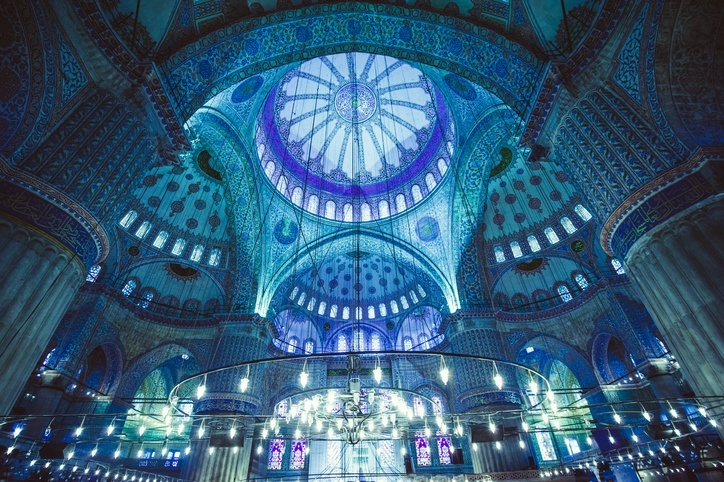blue mosque istanbul turkey color
